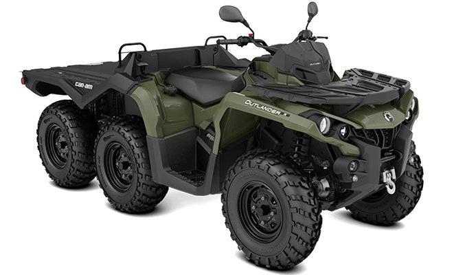 canam atv quad outlander 6x6 650 dps t3b