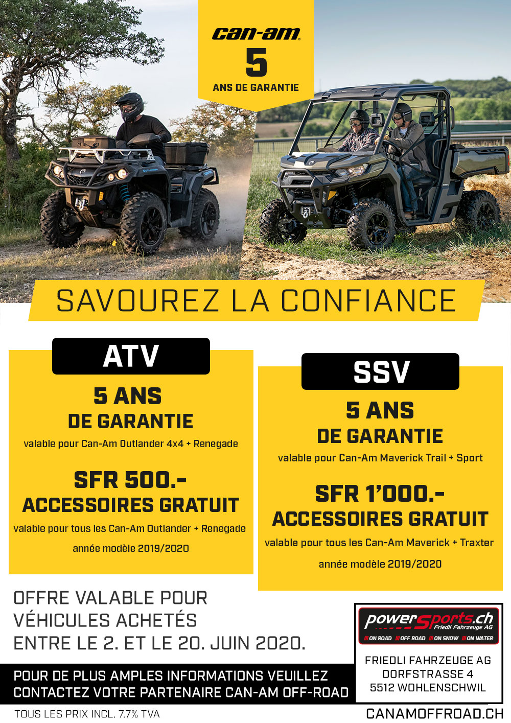 Offres Can-Am Off-Road