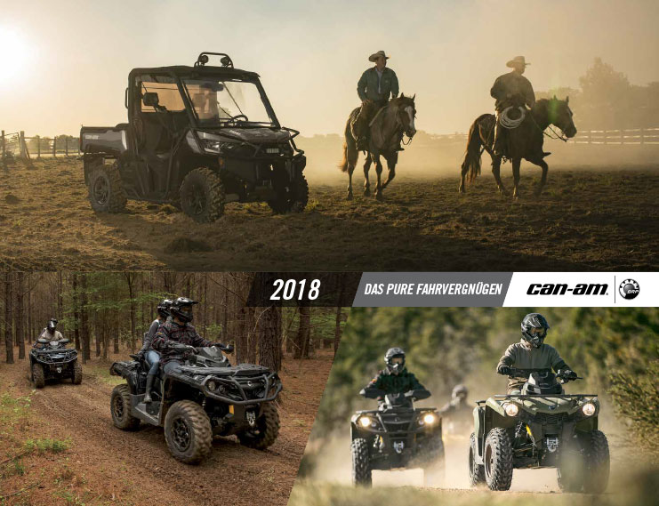 Can-Am ATV & SSV Katalog Line-Up 2018