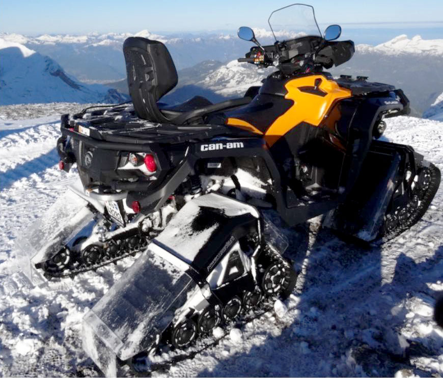 atv on snow. Black Bedroom Furniture Sets. Home Design Ideas
